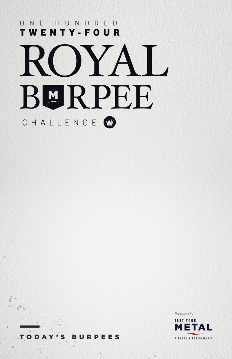 Test Your Metal Royal Burpee Challenge Poster